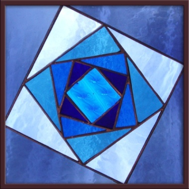 1000 images about geometric abstract stained glass on for Hollow glass blocks for crafts