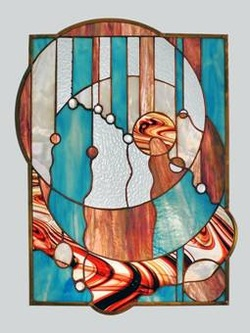 A Little Bit of Bling Stained Glass Panel