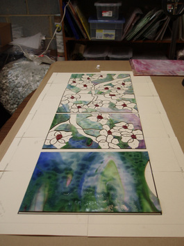 Selecting stained glass for andon construction