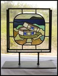 Stained Glass free standing panel wedding rings